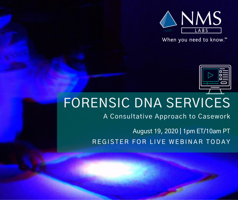 Forensic DNA Services Webinar